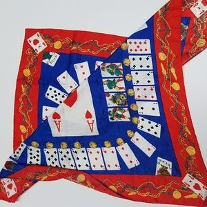 Moschino Couture 90s Scarf Playing Card Print